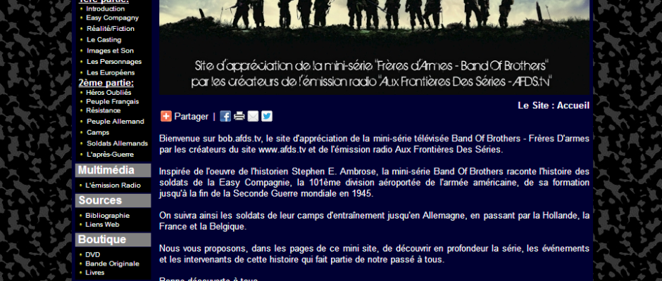 Band Of Brother - le site d'analyse
